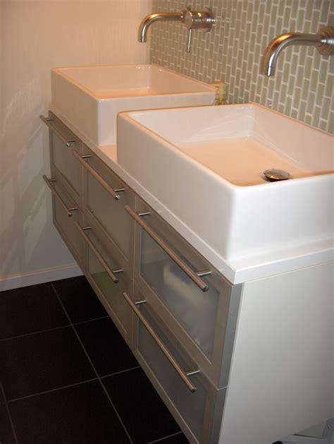 how to install a vessel sink on a dresser shoo cubby alex freddi construction llc