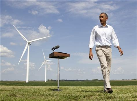 Obama Romney trade attacks on coal wind power