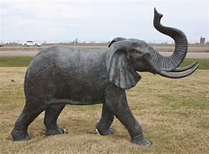 bronze elephant family statues size irongate garden