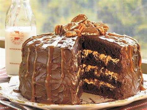 chocolate turtle cake recipe myrecipes