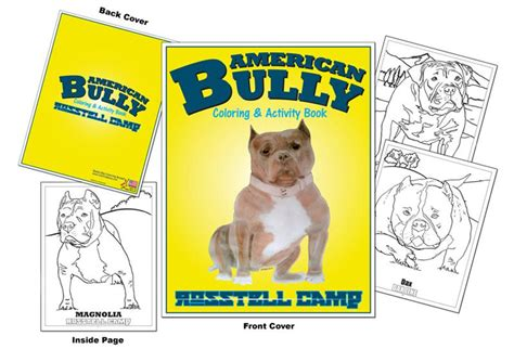 coloring books american bully rosstell camp