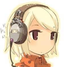anime girl  headphones  lucijagasai  deviantart