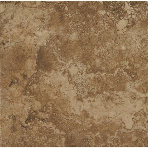 lowes flooring ceramic tile shop stonepeak ceramics inc 18 in x 18 in durango noce glazed porcelain floor tile at lowes com