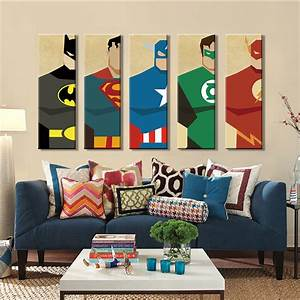 Aliexpress buy superman canvas painting pieces