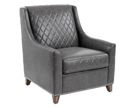 Bergamo Armchair Ash Grey Leather The Classic Quilted