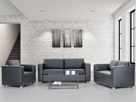 canapé et fauteuil en cuir ensemble canape et fauteuil khells en cuir veritable