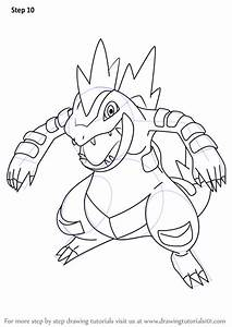 learn how to draw feraligatr from step