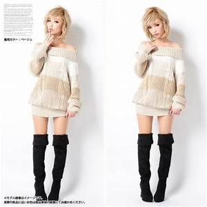 Sweater: sweater dress, off the shoulder, cute, two way ...