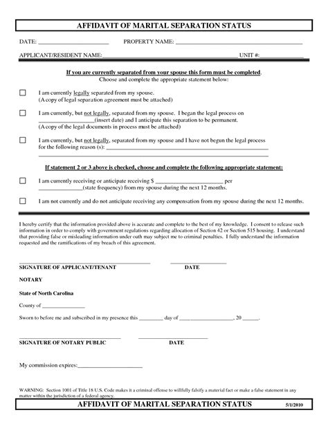top   formats  separation agreement templates