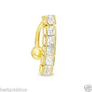 real  yellow gold top  channel belly button