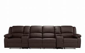 heather 4 seater home theater recliner sofa sofamaniacom With 4 seat reclining sectional sofa