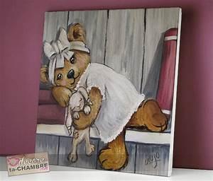 Tableau Chambre Fille : tableau ourson fille livre 61 vente tableau ourson pour enfants decore ta chambre ~ Teatrodelosmanantiales.com Idées de Décoration