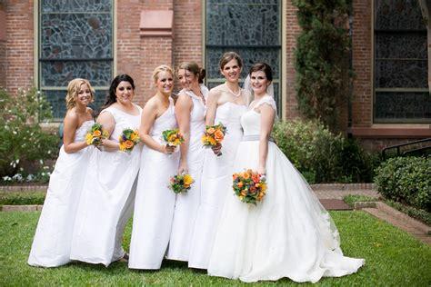 white bridesmaid dresses dressed  girl