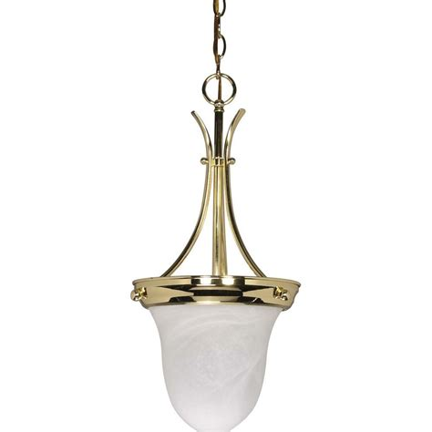 glomar  light polished brass bell pendant hd