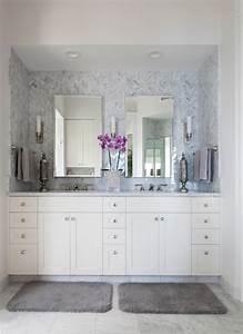 Herringbone tile backsplash bathroom tropical with alcove for Tropical bathroom mirrors