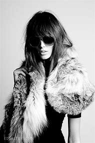 White Fur Fashion Photography