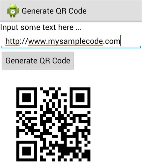 android qr code reader android generate qr code using zxing library