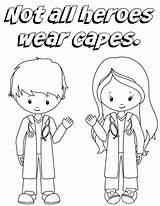 Doctor Capes Heroes Wear Nurses Coloring Printable Sheet Preschool Nanny Health Craft Nannytomommy sketch template