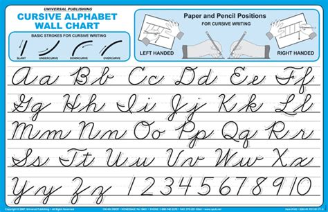 Cursive Alphabet Wall Charts (041464) Images  Rainbow Resource Center, Inc Handwriting