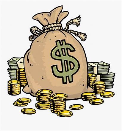 Money Cartoon Lots Clipart Bag Transparent Clipartkey
