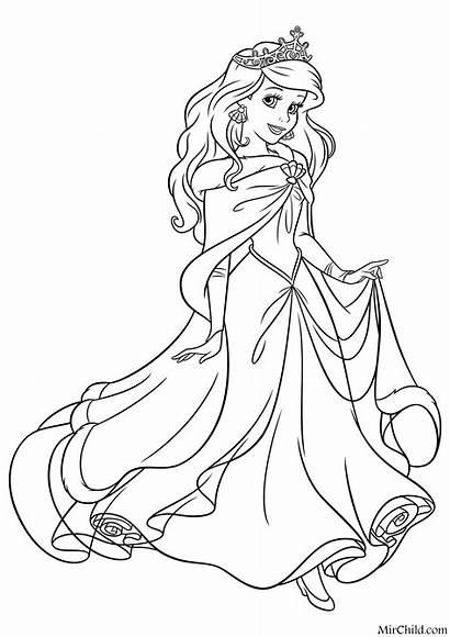 공주 디즈니 색칠하기 색칠 공부 Ariel Coloring