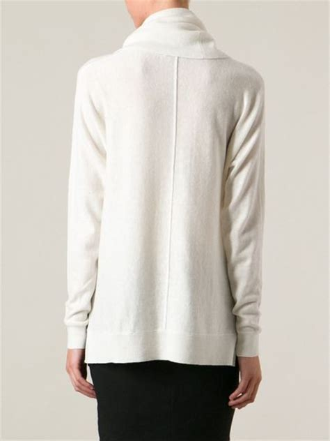 white cowl neck sweater vince cowl neck sweater in white lyst