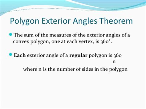 sum  interior  exterior angles  polygons