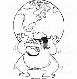 Sumo Cartoon Coloring Outline Wrestler Globe Vector Drawing Lifting Leishman Ron Pages Sketch Template sketch template