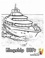 Ship Coloring Pages Yacht Boat Ft Colorable Boats Ships Cool Yescoloring Sheets sketch template
