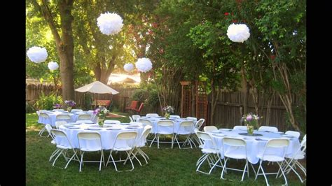 Wedding Reception In Backyard - backyard wedding reception ideas