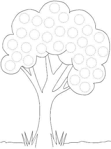 free printable tree trace worksheet 3 toddler school preschool kindergarten preschool