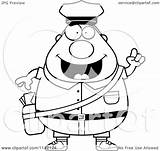 Postal Worker Mail Man Cartoon Clipart Idea Chubby Coloring Vector Drawing Thoman Cory Outlined Getdrawings sketch template