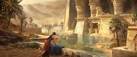 Wallpaper : ArtStation, artwork, temple, water, fantasy ...