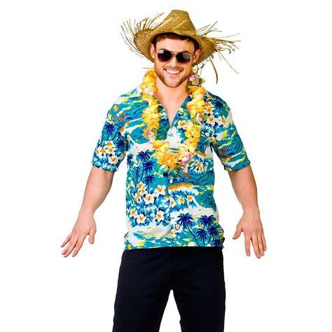 MENS HAWAIIAN SHIRT STAG RETRO BEACH LUAU TROPICAL ALOHA FANCY DRESS COSTUME TOP | eBay