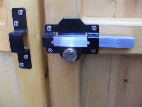 locks for shed doors gate lock throw for garden gate shed garage or door