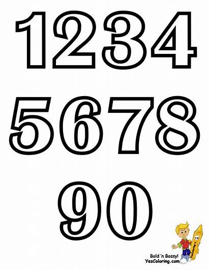 Coloring Numbers Alphabet Pages Chart Letters Yescoloring