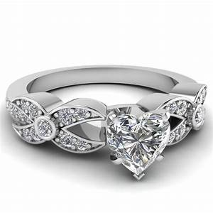 heart wedding bands white gold images With heart diamond wedding rings