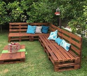Table Et Banc De Jardin : 1001 id es pour fabriquer un banc en palette charmant ~ Melissatoandfro.com Idées de Décoration