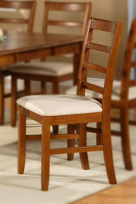 set of 2 sturdy kitchen dining chair w plain wood