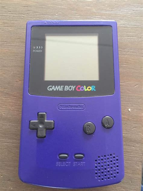 gameboy color price nintendo boy color gbc 001 purple with box and 2
