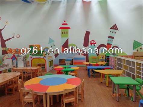 guangzhou cheap daycare furniture table and chair set