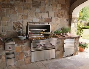 la cuisine d39ete le choix ideal pour un repas a ciel ouvert With cuisine d ete exterieure en pierre