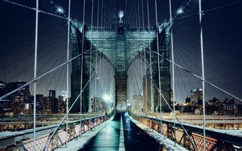 brooklyn bridge walkway wallpapers hd wallpapers id