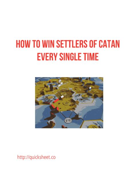Settlers Of Catan Strategy How To Win Settlers Of Catan