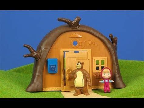 Mascha und der Bär Unboxing: Bärenhaus für Kinder | Masha ...