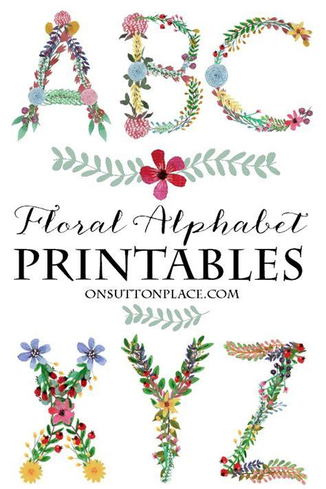 floral alphabet printables