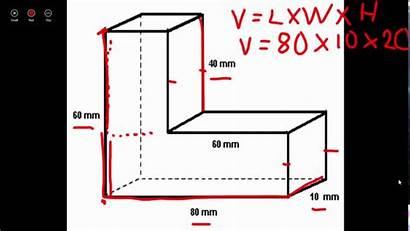 Volume Irregular Finding Figures Shapes Prism Rectangular