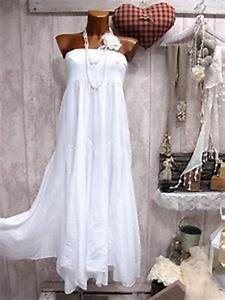 Robe Boheme Fille : filles du sud 36 38 40 42 robe longue bustier boheme blanc hippie chic lou ebay ~ Melissatoandfro.com Idées de Décoration