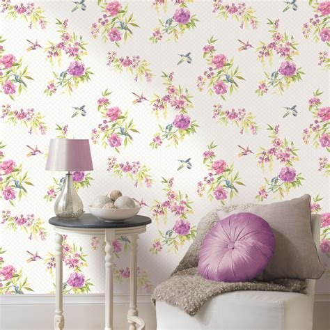 shabby chic wall ideas shabby chic floral wallpaper in various designs wall decor new ebay