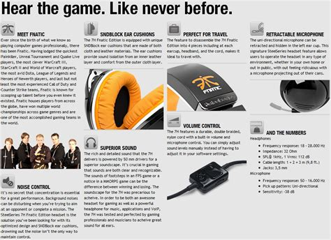 steelseries 7h usb steelseries 7h fnatic edition gaming headset review